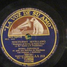 Discos de pizarra: DISCO PIZARRA, LA VOZ DE SU AMO. ROMANCE DE EUGENIA DE MONTIJO Y NOCTURNO SEVILLANO... Lote 197267162