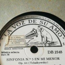 Discos de pizarra: ALBUM DE 2 SINFONIAS DE 6 DISCOS DE GRAMOLA CADA UNA. EN PERFECTO ESTADO. Lote 190587627