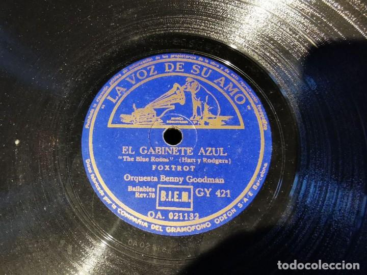 Discos de pizarra: DISCO PIZARRA, LA VOZ DE SU AMO, ORQUESTA BOB CHESTER, ESTRLLAS SOBRE JARDIN, EL GABINETE AZUL, N25 - Foto 3 - 197339468