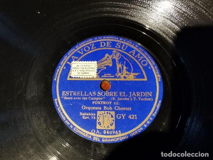 Discos de pizarra: DISCO PIZARRA, LA VOZ DE SU AMO, ORQUESTA BOB CHESTER, ESTRLLAS SOBRE JARDIN, EL GABINETE AZUL, N25 - Foto 4 - 197339468