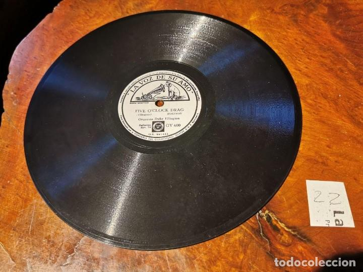 Discos de pizarra: DISCO PIZARRA, LA VOZ DE SU AMO, ORQUESTA, DUKE ELLINGTON, FIVE O´CLOCK D. Y CLEMENTINA, N22 - Foto 2 - 197341841