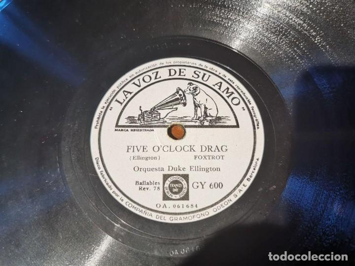 Discos de pizarra: DISCO PIZARRA, LA VOZ DE SU AMO, ORQUESTA, DUKE ELLINGTON, FIVE O´CLOCK D. Y CLEMENTINA, N22 - Foto 4 - 197341841