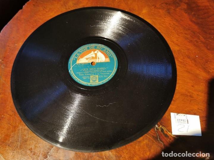Discos de pizarra: DISCO PIZARRA, LA VOZ DE SU AMO, ORQUESTA, DUKE ELLINGTON, QUE BIEN HARIA Y PUENTE DE CHELSEA, N21 - Foto 2 - 197342328