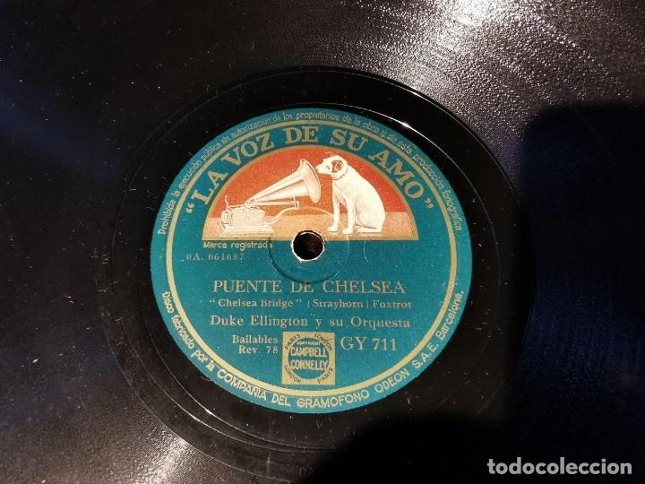 Discos de pizarra: DISCO PIZARRA, LA VOZ DE SU AMO, ORQUESTA, DUKE ELLINGTON, QUE BIEN HARIA Y PUENTE DE CHELSEA, N21 - Foto 3 - 197342328