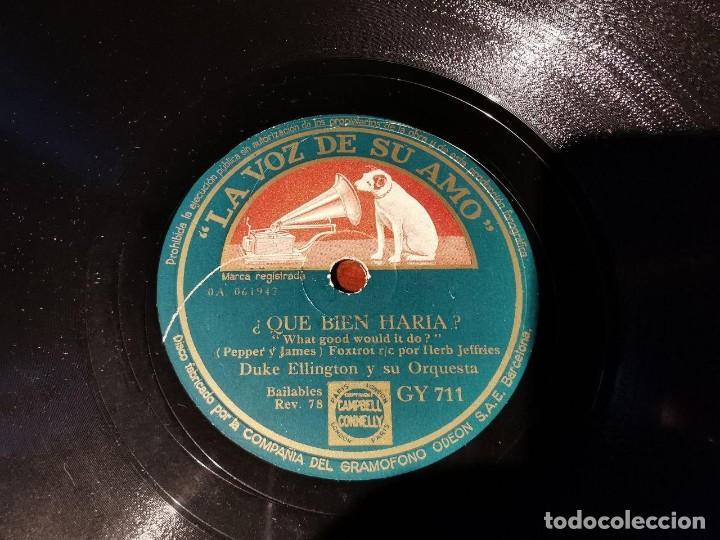 Discos de pizarra: DISCO PIZARRA, LA VOZ DE SU AMO, ORQUESTA, DUKE ELLINGTON, QUE BIEN HARIA Y PUENTE DE CHELSEA, N21 - Foto 4 - 197342328