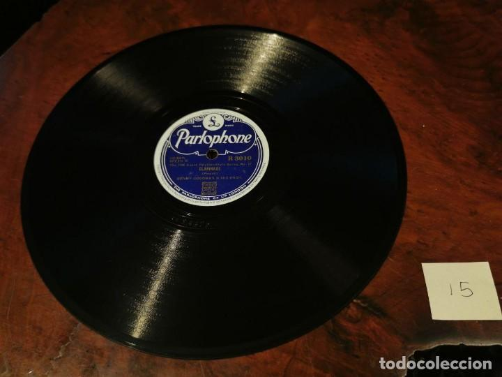 Discos de pizarra: .DISCO PIZARRA, PARLOPHONE, BENNY GOODMAN, CLARINADE Y OOMPH FAH FAH, N15 - Foto 2 - 197347968