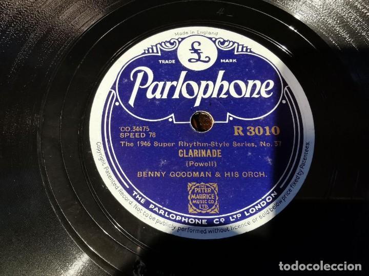 Discos de pizarra: .DISCO PIZARRA, PARLOPHONE, BENNY GOODMAN, CLARINADE Y OOMPH FAH FAH, N15 - Foto 3 - 197347968
