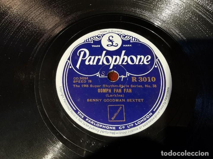Discos de pizarra: .DISCO PIZARRA, PARLOPHONE, BENNY GOODMAN, CLARINADE Y OOMPH FAH FAH, N15 - Foto 4 - 197347968