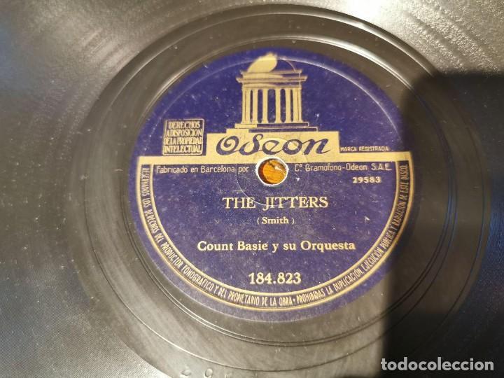 Discos de pizarra: ,DISCO PIZARRA, ODEON, BLUES DEL JARDIN REAL Y THE JITTERS, COUNT BASIE ORQUESTA. N10 - Foto 3 - 197351627