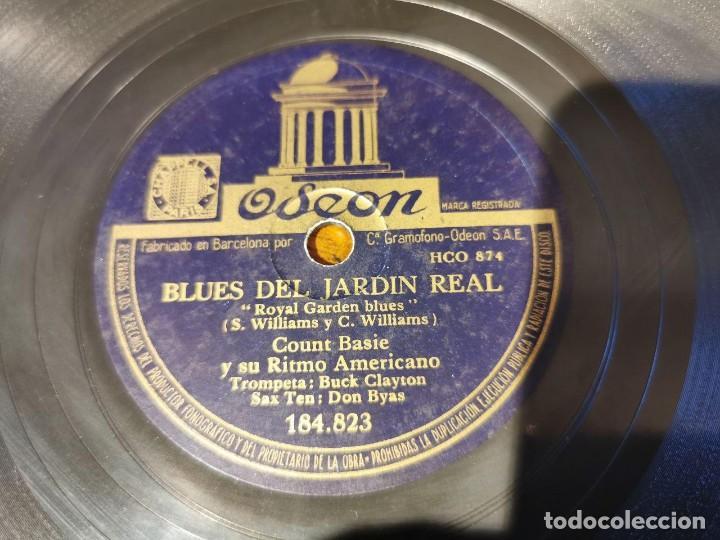 Discos de pizarra: ,DISCO PIZARRA, ODEON, BLUES DEL JARDIN REAL Y THE JITTERS, COUNT BASIE ORQUESTA. N10 - Foto 4 - 197351627