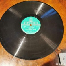 Discos de pizarra: ,DISCO PIZARRA, ODEON, NO LOUIS ARMSTRONG Y BASIN STREET BLUES N6. Lote 197353763