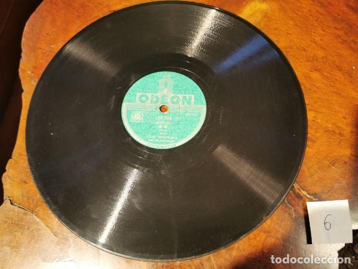 Discos de pizarra: ,DISCO PIZARRA, ODEON, NO LOUIS ARMSTRONG Y BASIN STREET BLUES N6 - Foto 2 - 197353763