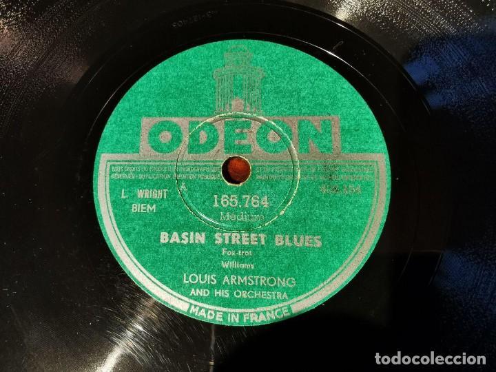 Discos de pizarra: ,DISCO PIZARRA, ODEON, NO LOUIS ARMSTRONG Y BASIN STREET BLUES N6 - Foto 3 - 197353763