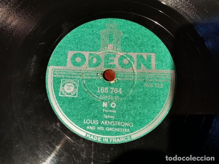 Discos de pizarra: ,DISCO PIZARRA, ODEON, NO LOUIS ARMSTRONG Y BASIN STREET BLUES N6 - Foto 4 - 197353763