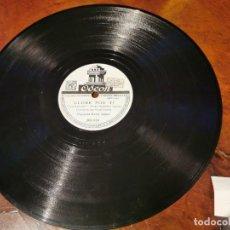 Discos de pizarra: ,DISCO PIZARRA, ODEON, LLORE POR TI, HARRY JAMES Y CONQUISTASTE MI CORAZON N5. Lote 197354050