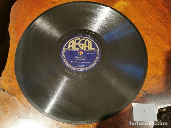 ,DISCO PIZARRA, REGAL, DAMA PEREZOSA Y BAMBO - COUNT BASIE Y SU ORQUESTA. N4 (Música - Discos - Pizarra - Solistas Melódicos y Bailables)