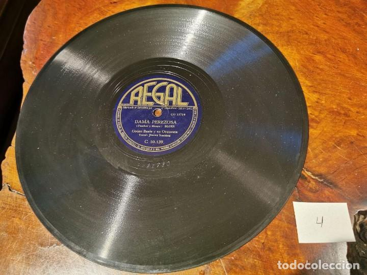 Discos de pizarra: ,DISCO PIZARRA, REGAL, DAMA PEREZOSA Y BAMBO - COUNT BASIE Y SU ORQUESTA. N4 - Foto 2 - 197354523