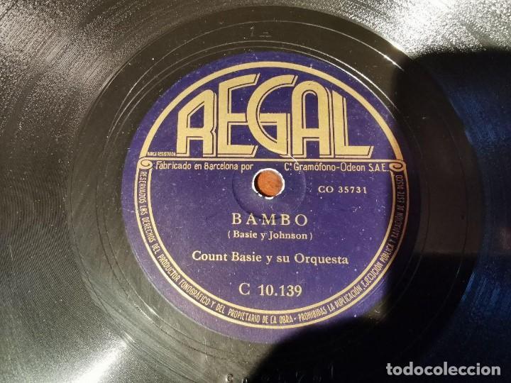 Discos de pizarra: ,DISCO PIZARRA, REGAL, DAMA PEREZOSA Y BAMBO - COUNT BASIE Y SU ORQUESTA. N4 - Foto 3 - 197354523