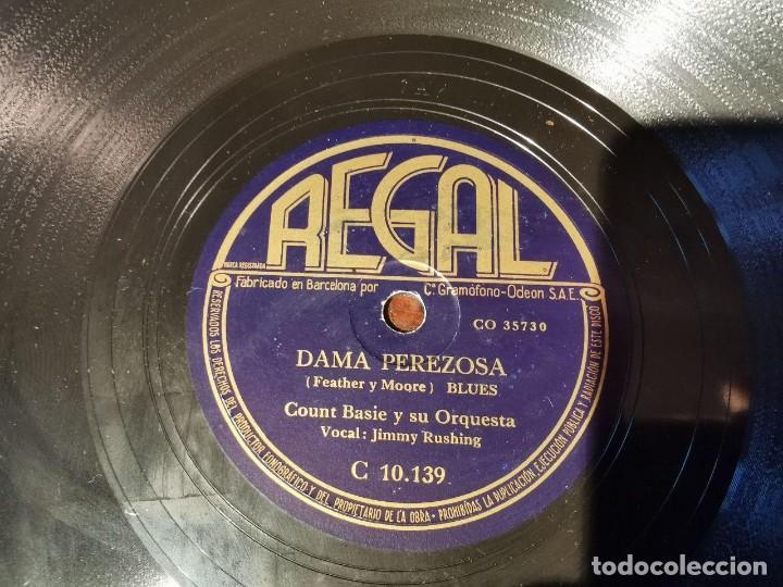 Discos de pizarra: ,DISCO PIZARRA, REGAL, DAMA PEREZOSA Y BAMBO - COUNT BASIE Y SU ORQUESTA. N4 - Foto 4 - 197354523