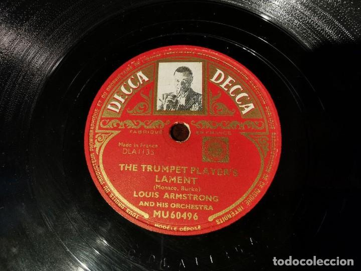 Discos de pizarra: DISCO PIZARRA, DECCA, THE TRUMPET PLAYER´S LAMENT Y BARBECUE, LOUIS ARMSTRONG. N1 - Foto 4 - 197355908