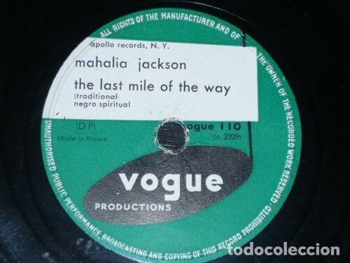 DISCO 78 RPM - VOGUE - MAHALIA JACKSON - NEGRO ESPIRITUAL - I´M GLAD SALVATION IS FREE - PIZARRA (Música - Discos - Pizarra - Jazz, Blues, R&B, Soul y Gospel)