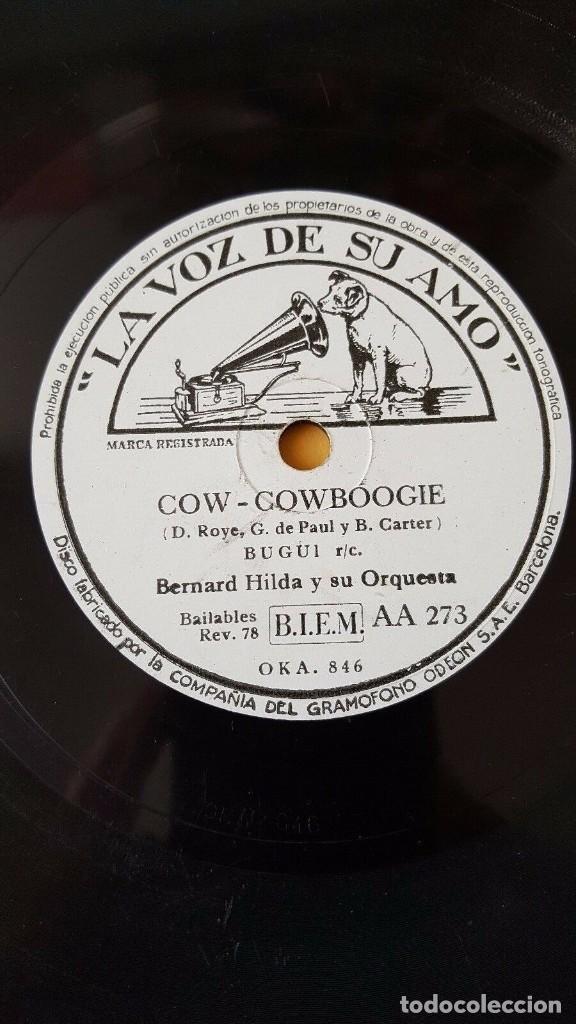 Discos de pizarra: DISCO 78 RPM - VSA - BERNARD HILDA - ORQUESTA - COW COWBOOGIE - BUGUI - FOXTROT - PIZARRA - Foto 2 - 197830167