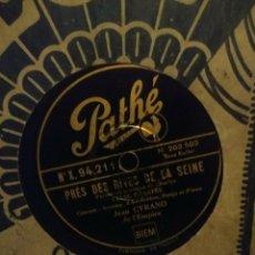 Discos de pizarra: DISCO DE PIZARRA : JEAN CYRANO DE L´EMPIRE : PRES DES RIVES DE LA SEINE. Lote 197846656