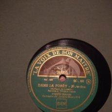 Discos de pizarra: DISCO DE PIZARRA : YVETTE GIRAUD : DANS LA FORET + MAITRE PIERRE. Lote 197846873