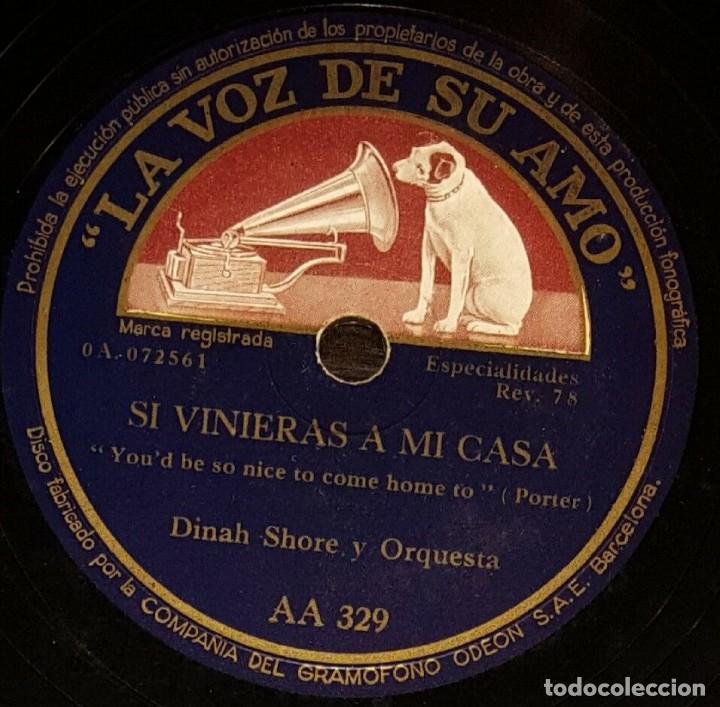 DISCO 78 RPM - VSA - DINAH SHORE - ORQUESTA - SI VINIERAS A MI CASA - PORTER - TU Y YO - PIZARRA (Música - Discos - Pizarra - Jazz, Blues, R&B, Soul y Gospel)