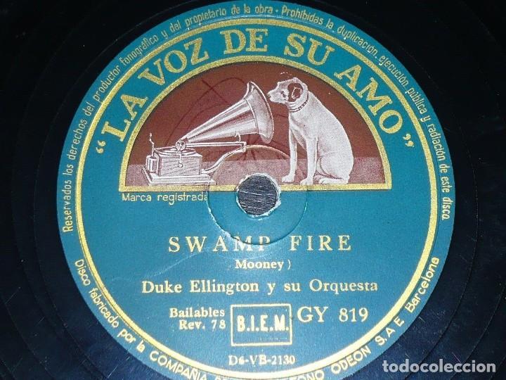 DISCO 78 RPM - VSA - DUKE ELLINGTON - ORQUESTA - SWAMP FIRE - MOONEY - ESTRECHAME - JAZZ - PIZARRA (Música - Discos - Pizarra - Jazz, Blues, R&B, Soul y Gospel)