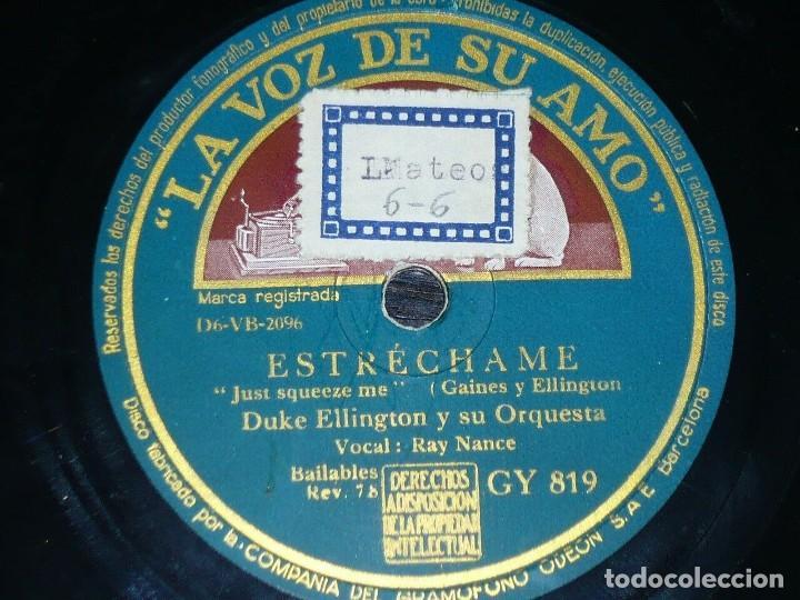 Discos de pizarra: DISCO 78 RPM - VSA - DUKE ELLINGTON - ORQUESTA - SWAMP FIRE - MOONEY - ESTRECHAME - JAZZ - PIZARRA - Foto 2 - 197946986