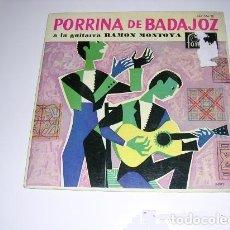 Discos de pizarra: PORRINA DE BADAJOZ A LA GUITARRA RAMÓN MONTOYA. Lote 197954658