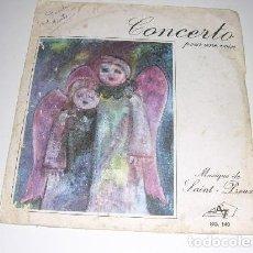 Discos de pizarra: CONCERTO POUR UNE VOIX MUSIQUE DE SAINT PREUX. Lote 197956202