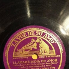 Discos de pizarra: DISCO 78 RPM - VSA - JEANNETTE MACDONALD - NELSON EDDY - ORQUESTA - ROSE MARIE - FILM - PIZARRA. Lote 198137303