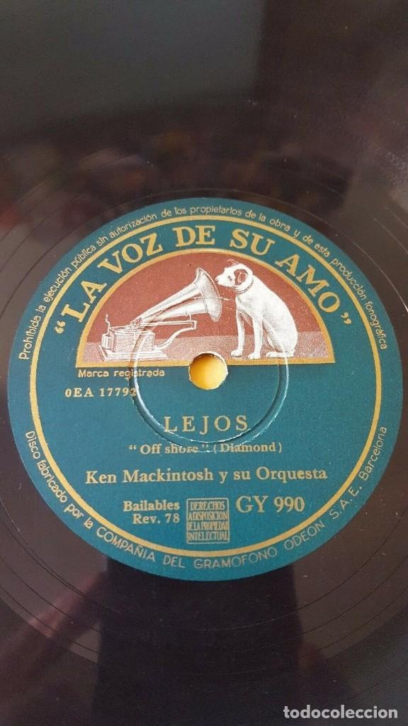 Discos de pizarra: DISCO 78 RPM - VSA - KEN MACKINTOSH - ORQUESTA - EPOCA EDUARDINA - LEJOS - SAXOFON - PIZARRA - Foto 2 - 198145070