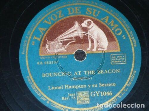 Discos de pizarra: DISCO 78 RPM - VSA - LIONEL HAMPTON - SEXTETO - BOUNCING AT THE BEACON - JAZZ - PIZARRA - Foto 2 - 198147573
