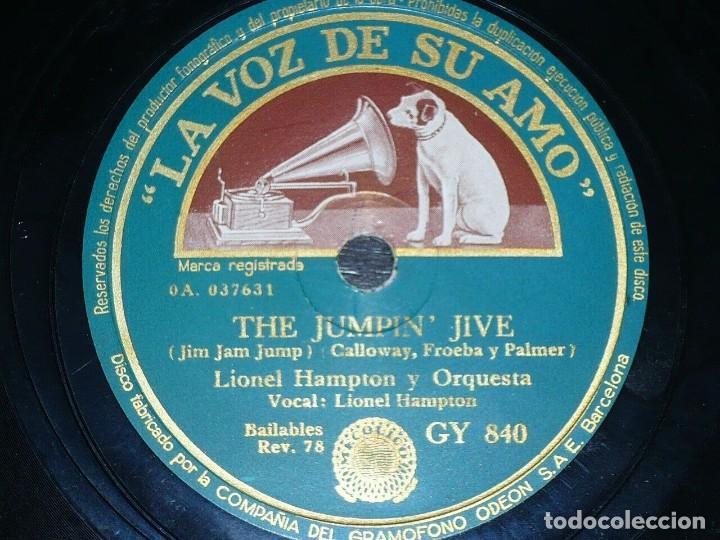 DISCO 78 RPM - VSA - LIONEL HAMPTON - ORQUESTA - THE JUMPIN´JIVE - TU GRATO RECUERDO - PIZARRA (Música - Discos - Pizarra - Jazz, Blues, R&B, Soul y Gospel)