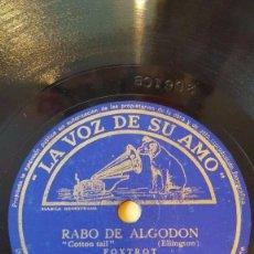 Discos de pizarra: DISCO 78 RPM - VSA - DUKE ELLINGTON - ORQUESTA - RABO DE ALGODON - NUNCA TE LAMENTES - PIZARRA. Lote 198466672