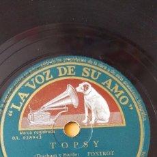Discos de pizarra: DISCO 78 RPM - VSA - ORQUESTA BENNY GOODMAN - TOPSY - RITMO DEL FUMADERO - FOXTROT - PIZARRA. Lote 198467486