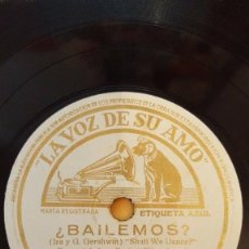 Discos de pizarra: DISCO 78 RPM - VSA - PAUL WHITEMAN - ORQUESTA - EDDY DUCHIN - FILM - RITMO LOCO - FOXTROT - PIZARRA. Lote 198471740