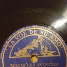 Discos de pizarra: DISCO 78 RPM - VSA - ORQUESTA EDDY DUCHIN - BUSCAS UNA AVENTURA - LUNA EN LA CARRETERA - PIZARRA. Lote 198473072