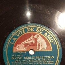 Discos de pizarra: DISCO 78 RPM - VSA - ORQUESTA MELACHRINO - IRVING BERLIN SELECCION - JAZZ - BLUES - PIZARRA. Lote 198558333