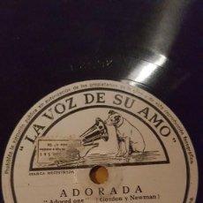 Discos de pizarra: DISCO 78 RPM - VSA - ORQUESTA WAYNE KING - ADORADA - RECUERDO DE VIENA - VALS - JAZZ - PIZARRA. Lote 198561437