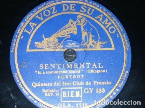 Discos de pizarra: DISCO 78 RPM - VSA - QUINTETO HOT CLUB DE FRANCIA - EXACTAMENTE COMO TU - SENTIMENTAL - PIZARRA - Foto 2 - 198729973