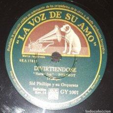 Discos de pizarra: DISCO 78 RPM - VSA - SID PHILLIPS - ORQUESTA - DIVIRTIENDOSE - ZAPATOS RECHINANTES - JAZZ - PIZARRA. Lote 198745386