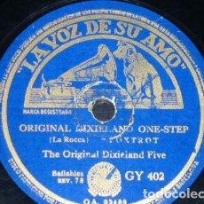 Discos de pizarra: DISCO 78 RPM - VSA - THE ORIGINAL DIXIELAND FIVE - BARNYARDS BLUES - FOXTROT - ONE STEP - PIZARRA. Lote 198748115