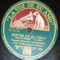 Dischi in gommalacca: DISCO 78 RPM - VSA - VAUGHN MONROE - ORQUESTA - JINETES EN EL CIELO - BAILABLE - JAZZ - PIZARRA. Lote 199055696