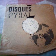 Discos de pizarra: MICROSILLONS GEORGES DUDAN PRESENTATION DES ORGUES DE LA SALLE MUSICA THEATRE LA CHAUX DE FONDS,H. J. Lote 199690920