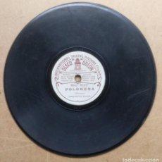 Disques en gomme-laque: MUSICA, DISCO PIZARRA DOBLE CARA - ORQUESTA ODEON - POLONES Y ..... DIAMETRO 18,5 CM.. Lote 200055590