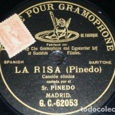 Discos de pizarra: DISCO 78 RPM - G&T BLACK - SR. PINEDO - BARITONO - LA RISA - COMICO - RARO - MADRID - PIZARRA. Lote 200056741